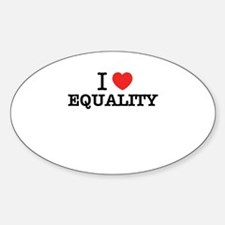 I Love EQUALITY Decal