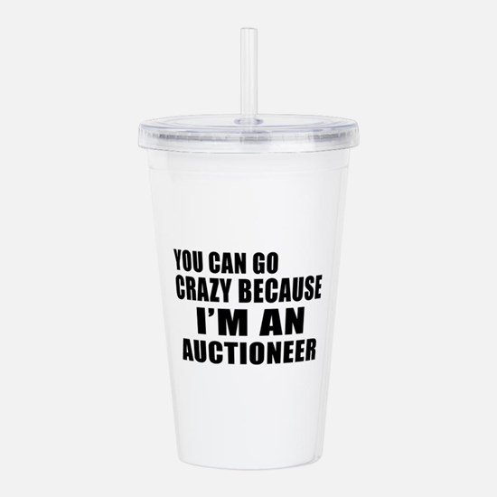I Am Auctioneer Acrylic Double-wall Tumbler
