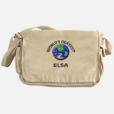 World's Okayest Elsa Messenger Bag
