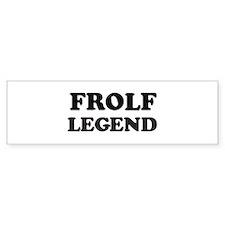 FROLF Legend Bumper Bumper Sticker