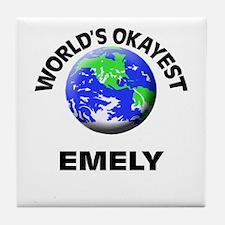 World's Okayest Emely Tile Coaster