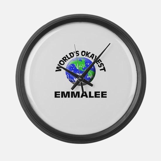 World's Okayest Emmalee Large Wall Clock