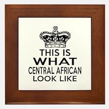 I Am Central African Framed Tile