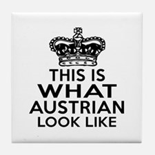 Austrian Look Like Designs Tile Coaster