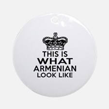 Armenian Look Like Designs Round Ornament