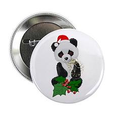 "Christmas Panda 2.25"" Button (100 pack)"
