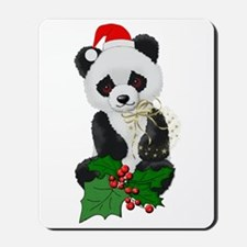 Christmas Panda Mousepad