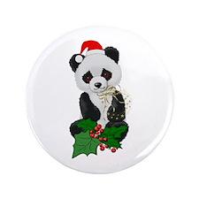 "Christmas Panda 3.5"" Button (100 pack)"