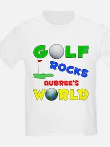 Golf Rocks Aubree's World - T-Shirt