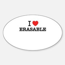 I Love ERASABLE Decal