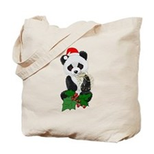 Christmas Panda Tote Bag