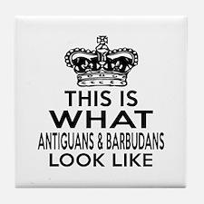Antiguans Look Look Like Designs Tile Coaster
