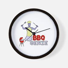 Cute Bbq smoking Wall Clock