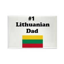 #1 Lithuanian Dad Rectangle Magnet