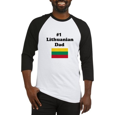 #1 Lithuanian Dad Baseball Jersey