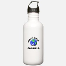 World's Okayest Gabrie Sports Water Bottle