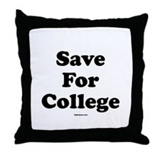 Save For College Throw Pillow