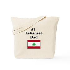 #1 Lebanese Dad Tote Bag