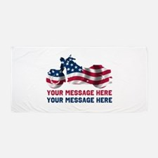 Personalize It, Motorcycle Beach Towel