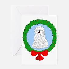 Komondor Christmas Greeting Card