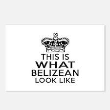 Belizean Look Like Design Postcards (Package of 8)