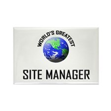 World's Greatest SITE MANAGER Rectangle Magnet