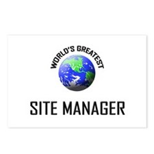 World's Greatest SITE MANAGER Postcards (Package o