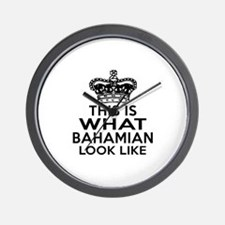 Bahamian Look Like Designs Wall Clock