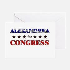ALEXANDREA for congress Greeting Card