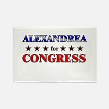 ALEXANDREA for congress Rectangle Magnet
