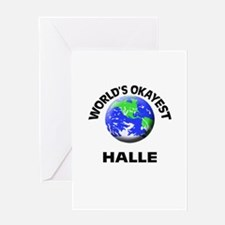 World's Okayest Halle Greeting Cards