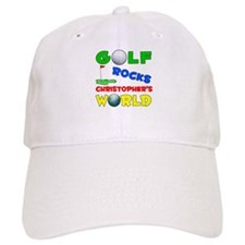 Golf Rocks Christopher's Worl Baseball Cap
