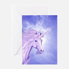 Unicorn & Sky Single Greeting Card ~ BLANK
