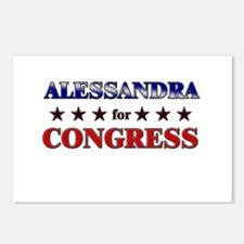 ALESSANDRA for congress Postcards (Package of 8)