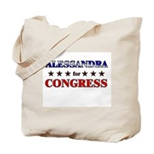 ALESSANDRA for congress Tote Bag
