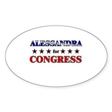 ALESSANDRA for congress Oval Decal