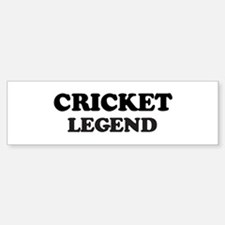 CRICKET Legend Bumper Car Car Sticker