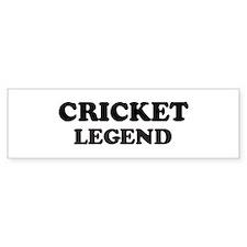 CRICKET Legend Bumper Car Sticker