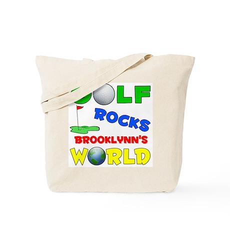 Golf Rocks Brooklynn's World Tote Bag