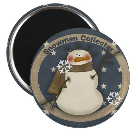 """Snowman Collector 2.25"""" Magnet (10 pack)"""