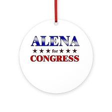ALENA for congress Ornament (Round)