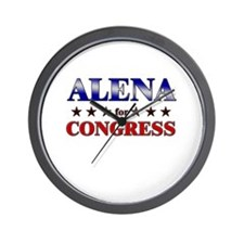 ALENA for congress Wall Clock