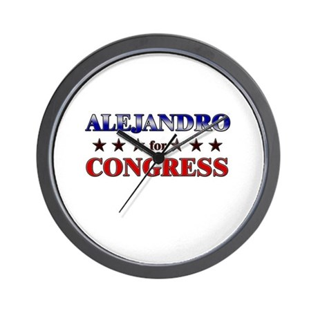 ALEJANDRO for congress Wall Clock
