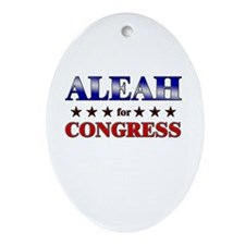 ALEAH for congress Oval Ornament