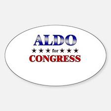 ALDO for congress Oval Decal