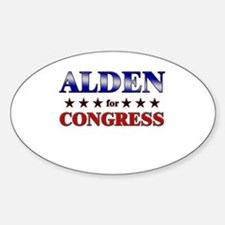 ALDEN for congress Oval Decal
