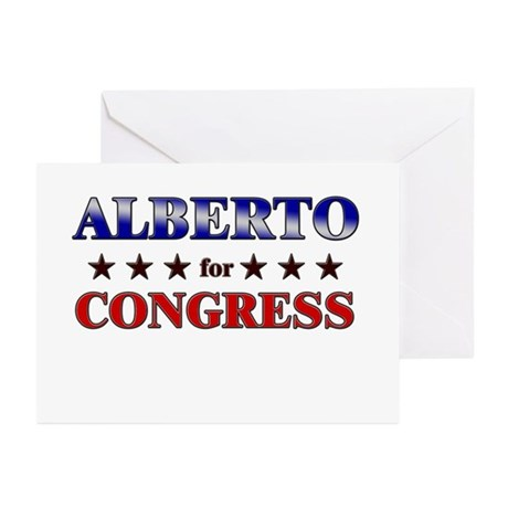 ALBERTO for congress Greeting Cards (Pk of 10)