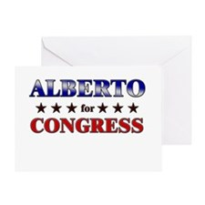 ALBERTO for congress Greeting Card