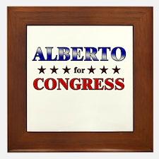 ALBERTO for congress Framed Tile