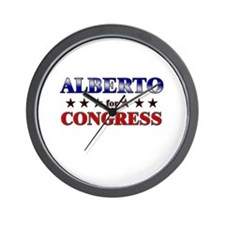 ALBERTO for congress Wall Clock